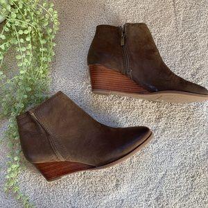 Franco Sarto Brown Booties 8.5